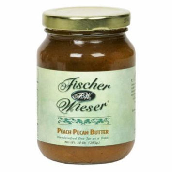 Fischer & Wieser, Fruit Butter Peach Pecan, 10.9 OZ (Pack of 6)