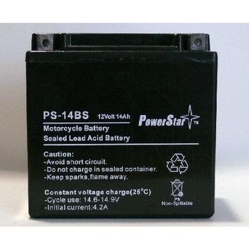 POWERSTAR 14-BS Battery for Honda 750cc VT750C Shadow (1998-2000)