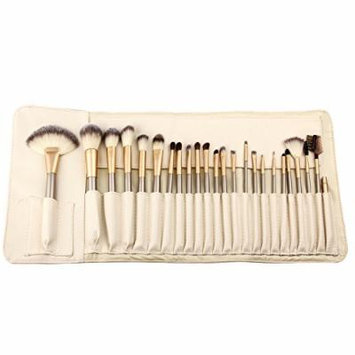 Hoter® 24 Pcs Champagne Professional Makeup Brush Set - White