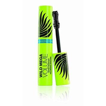 3 x Max Factor Wild Mega Volume Volumising Waterproof Black Mascara 11ml