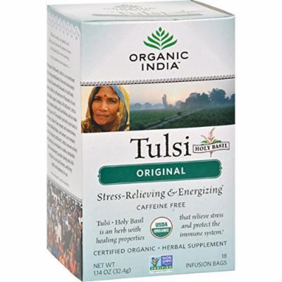 Organic India Tulsi Tea Original - 18 Tea Bags - Case of 6