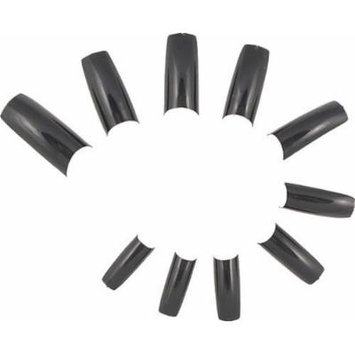 500 French Acrylic False Artificial Tips Nail Art -- Black by Eamee