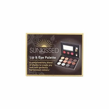 SUNkissed Cosmetics Lip & Eye Palette - 17 Pieces