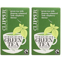 (2 Pack) - Clipper - Green Tea With Ginseng | 20 Bag | 2 PACK BUNDLE