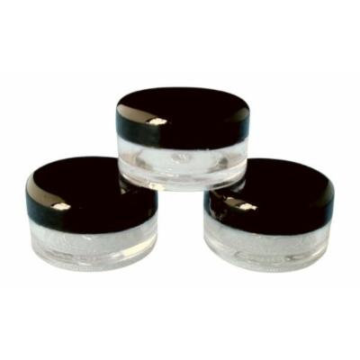 5ml Empty Plastic Cosmetic Jars x 10 CLEAR with BLACK Lids for Creams/Sample/Make-Up/Glitter Storage by Other