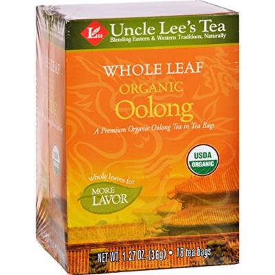 Uncle Lee's Tea 100% Organic Oolong Tea Whole Leaf - Case Of 12 - 18 Bag