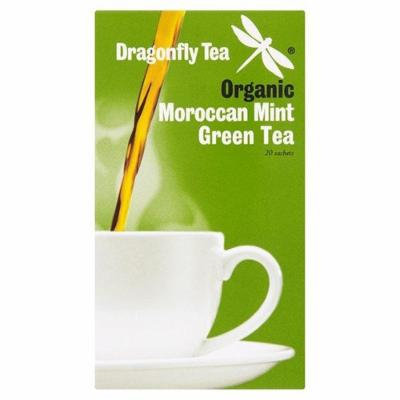 (12 PACK) - Dragonfly Tea - Org Moroccan Mint Green Tea | 20 sachet | 12 PACK BUNDLE