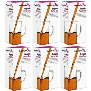 (6 PACK) - Dragonfly Tea - Organic Pu'er Tea | 20 sachet | 6 PACK BUNDLE