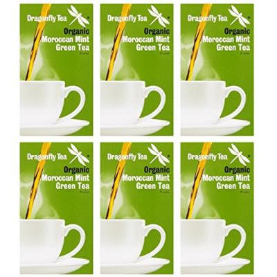 (6 PACK) - Dragonfly Tea - Org Moroccan Mint Green Tea   20 sachet   6 PACK BUNDLE