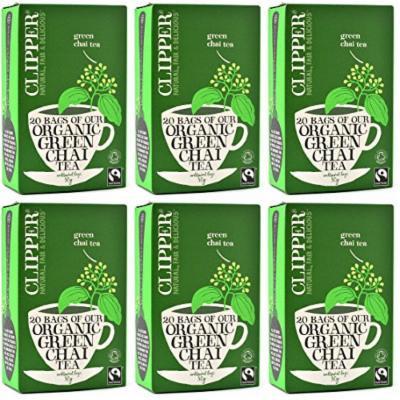 (6 PACK) - Clipper - Fairtrade Organic Green Chai | 20 Bag | 6 PACK BUNDLE