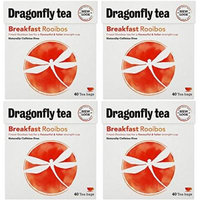 (4 PACK) - Dragonfly Tea - Breakfast Rooibos Tea | 40 Bag | 4 PACK BUNDLE