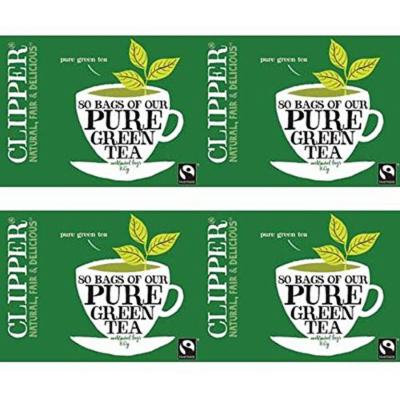 (4 PACK) - Clipper - Pure Green Tea | 80 Bag | 4 PACK BUNDLE