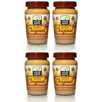 (4 PACK) - Whole Earth - Original Smooth Peanut Butter | 340g | 4 PACK BUNDLE