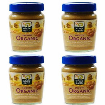 (4 PACK) - Whole Earth - Organic Smooth Peanut Butter | 227g | 4 PACK BUNDLE