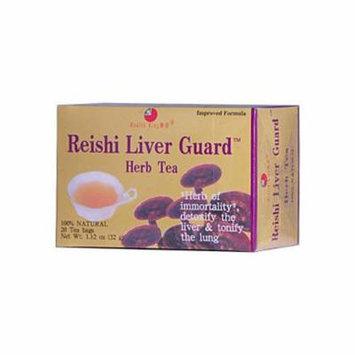 2 Packs of Health King Reishi Liver Guard Herb Tea - 20 Tea Bags