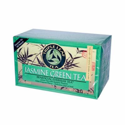 Triple Leaf Tea Jasmine Green Tea - 20 Tea Bags - Case of 6 - Gluten Free - Dairy Free - Yeast Free - Wheat Free -