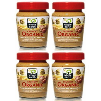 (4 PACK) - Whole Earth - Organic Crunchy Peanut Butter | 227g | 4 PACK BUNDLE