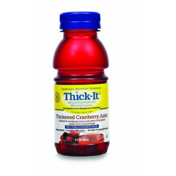 Thickened Beverage Thick-It AquaCareH2O 8 oz. Cranberry Ready to Use