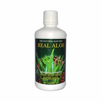 2 Packs of Real Aloe Inc. Aloe Vera Super Juice - 32 Fl Oz