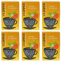 (6 PACK) - Clipper - Organic Orange & Coconut | 20 Bag | 6 PACK BUNDLE