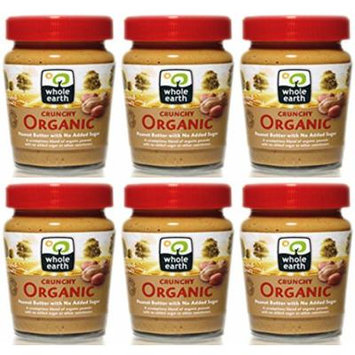(6 PACK) - Whole Earth - Organic Crunchy Peanut Butter | 227g | 6 PACK BUNDLE