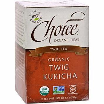 Choice Organic Teas Twig Tea Twig Kukicha - 16 Tea Bags - Case of 6 - 95%+ Organic -