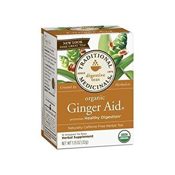 2 Packs of Traditional Medicinals Organic Ginger Aid Herbal Tea - 16 Tea Bags - Case Of 6
