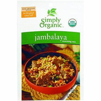 Simply Organic Seasoning Mix - Organic - Jambalaya - .74 oz - Case of 12 - 95%+ Organic - Gluten Free - Dairy Free - Yeast Free - Wheat Free - Vegan