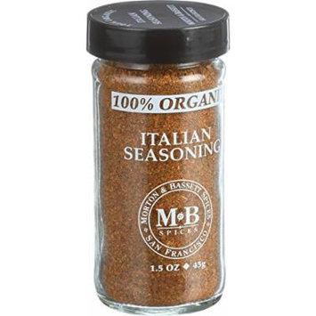 Morton and Bassett 100% Organic Seasoning - Italian Seasoning - 1.5 oz - Case of 3 - 100% Organic -