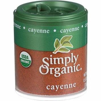 Simply Organic Cayenne Pepper - Organic - 2.89 oz - 95%+ Organic - Gluten Free - Dairy Free - Yeast Free - Wheat Free - Vegan