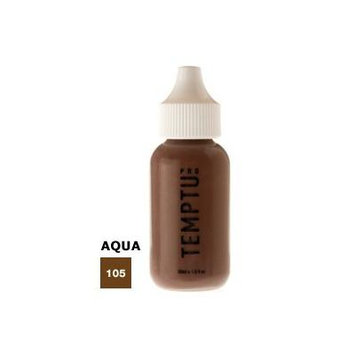 TEMPTU PRO Aqua Airbrush Makeup Foundation- Ebony (#105) 1 Oz