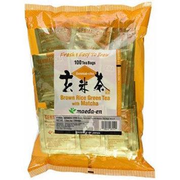 Maeda-en Brown Rice Green Tea with Matcha 100 Tea Bags by MAEDA-EN