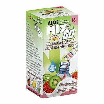 Lily Of The Desert Mix N Go Aloe Drink, Strawberry Kiwi, 16 Count by Lily Of The Desert