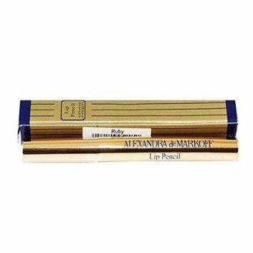Alexandra De Markoff for Women Lip Pencil, Ruby, 0.007 Ounce by Alexandra De Markoff