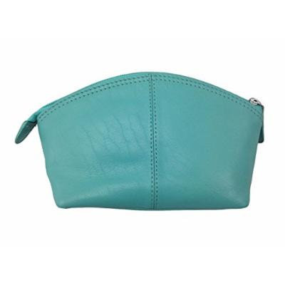 Leather Cosmetic Make-up Case,One Size,Turquoise