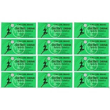 Lot of 24 Cali Girl Brand Dieters' Tea Drink For Men and Women (144 Tea Bags) by Cali Girl