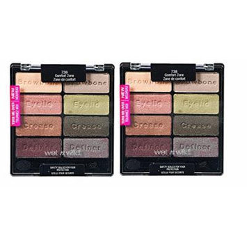 Wet n Wild Color Icon Eyeshadow Collection 738 Comfort Zone (Pack of 2)