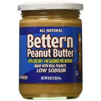 Better N Peanut Butter Low Sodium Creamy Peanut Butter -- 16 oz by Better N Peanut Butter
