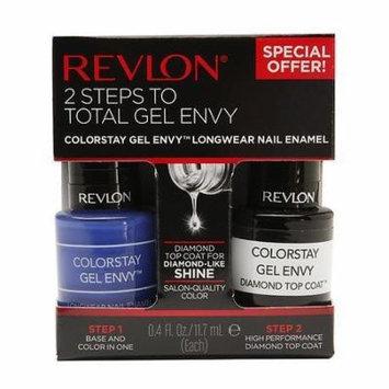 Revlon 2 Steps To Total Gel Envy Long Wearing Nail Enamel 760,- Wild Card And Diamond Top Coat (Pack of 2) by Revlon