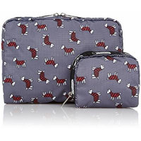 LeSportsac Extra Large Rectangular and Square Cosmetic Combo - Terrier Toss