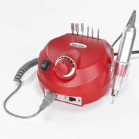 Professional Finger Toe Nail Manicure Pedicure Electric Power Drill File Machine Red w/ Kit Tools Accessories Hand-piece Cradle Foot Pedal Bits for Art Beauty Set Parlor Salon Shop Home Personal