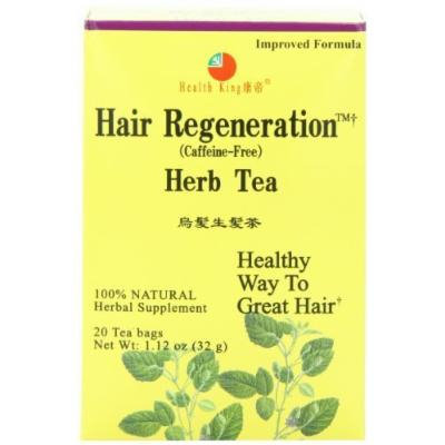 Health King Hair Regeneration Herb Tea, Teabags, 20-Count Box (Pack of 4) by Health King