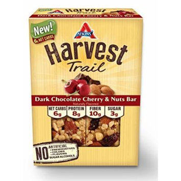 Atkins Harvest Trail Bars, Dark Chocolate Cherry and Nuts, 5 Count by Atkins