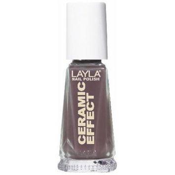 Layla Ceramic Effect Nail Polish, Elegant Mud, 1.9 Ounce by Layla
