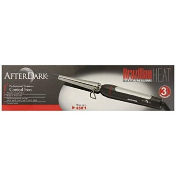 Brazilian Heat BBH3107 Brazilian Heat After Dark Titanium Keratin-Safe Clipless Curling Iron, 1 Inch by Brazilian Heat