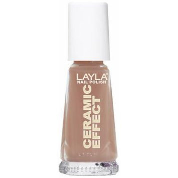 Layla Ceramic Effect Nail Polish, Cappuccino, 1.9 Ounce by Layla