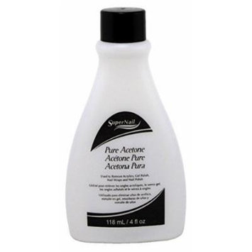 Super Nail 4oz Pure Acetone Polish Remover (Clear) (3 Pack) by Supernail