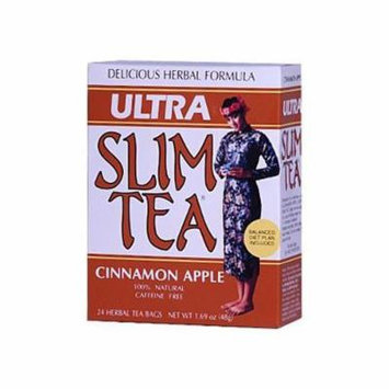 Hobe Labs Ultra Slim Tea Cinnamon Apple - 24 Tea Bags-pack of 1 by Hobe Labs
