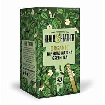 Heath & Heather Organic Imperial Matcha Tea 20 Bags (Pack of 3)