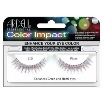 Ardell Color Impact Lash False Eyelashes - #110 Plum (Pack of 4) by Ardell
